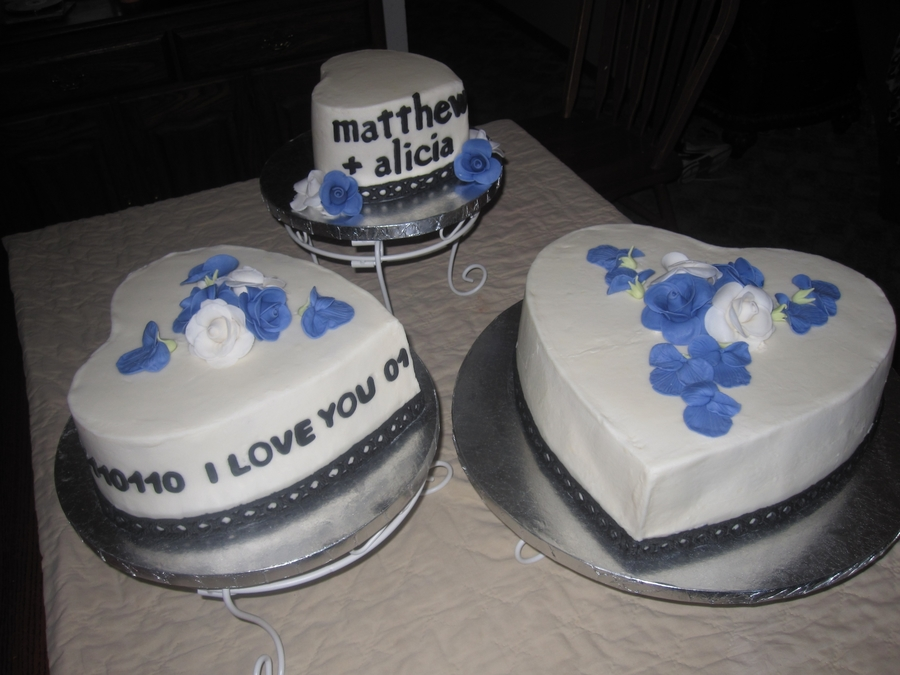 Heart Wedding Cakes on Cake Central