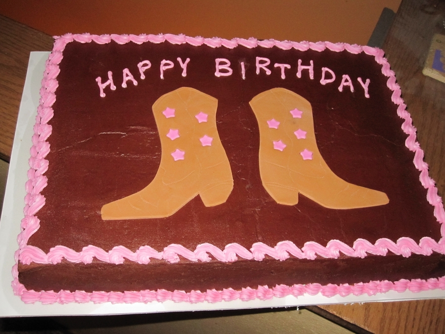 Cowgirl Boots on Cake Central