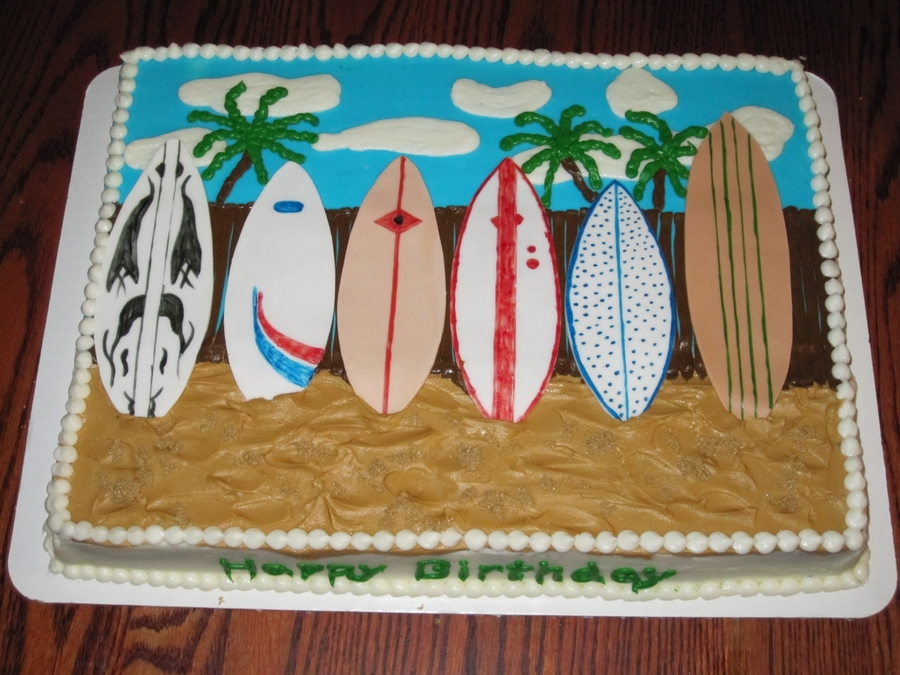 Surfer Cake on Cake Central