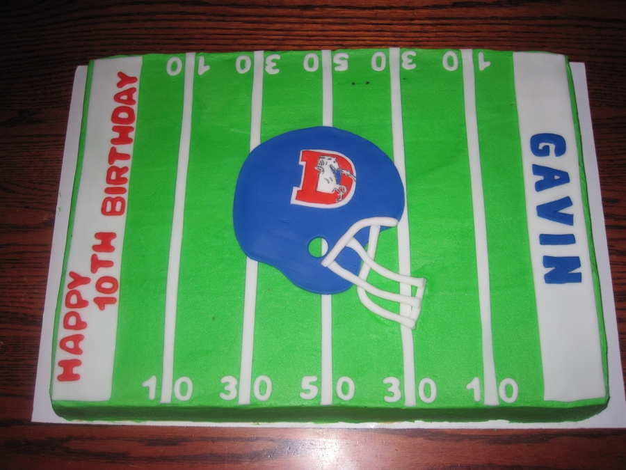 Old School Bronco's Field on Cake Central
