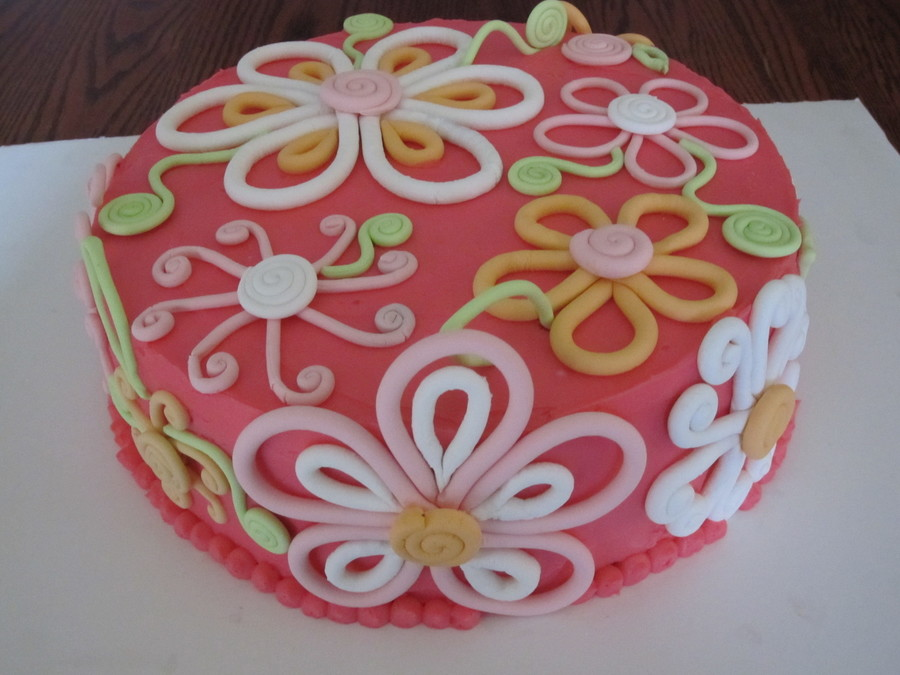 Sugar Flower Birthday Cake on Cake Central