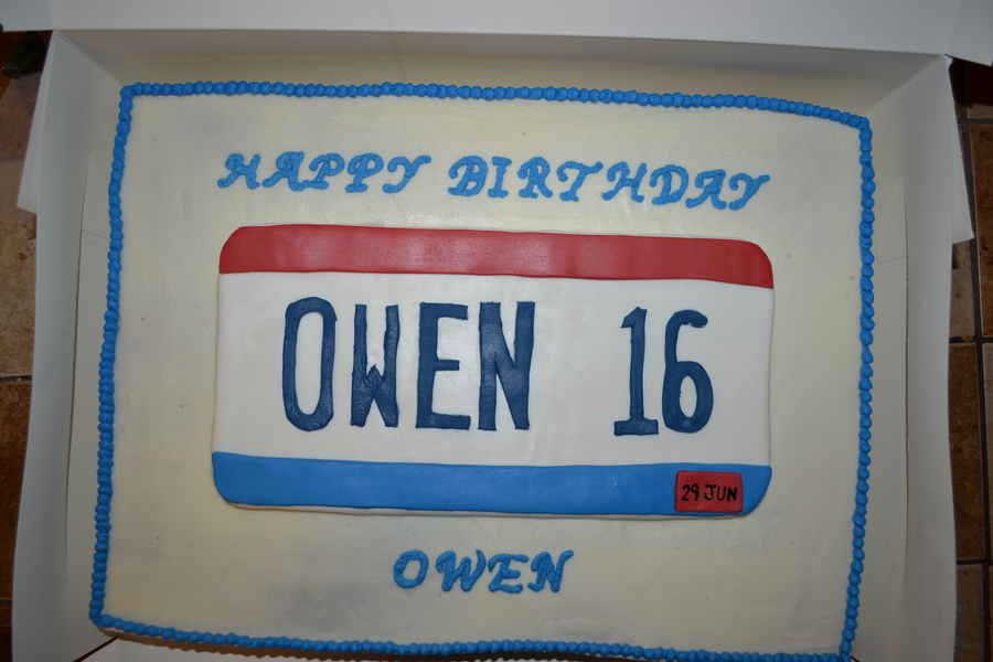 Ohio License Plate Cake 16th Cakecentral Com