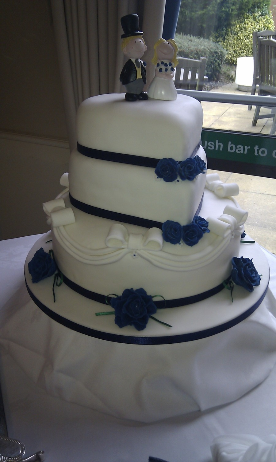 Navy & White Wedding on Cake Central