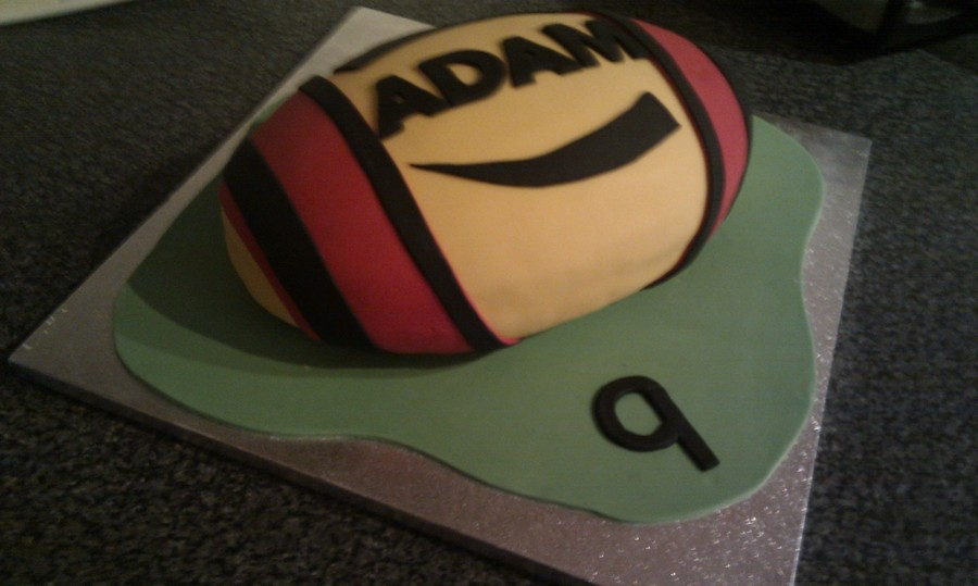 Rugby Ball on Cake Central
