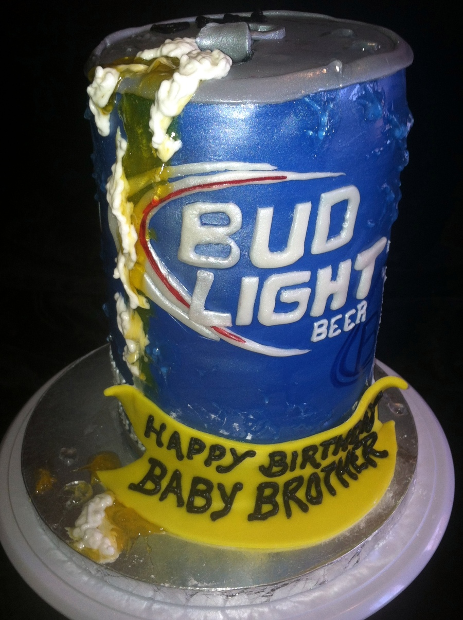 Bud Light Can on Cake Central