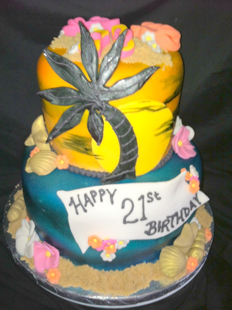 Maui Birthday Cake on Cake Central