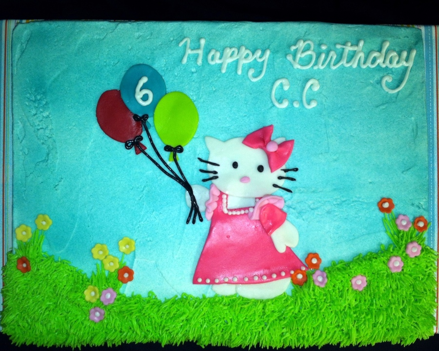 Anther Hello Kitty Cake!  on Cake Central