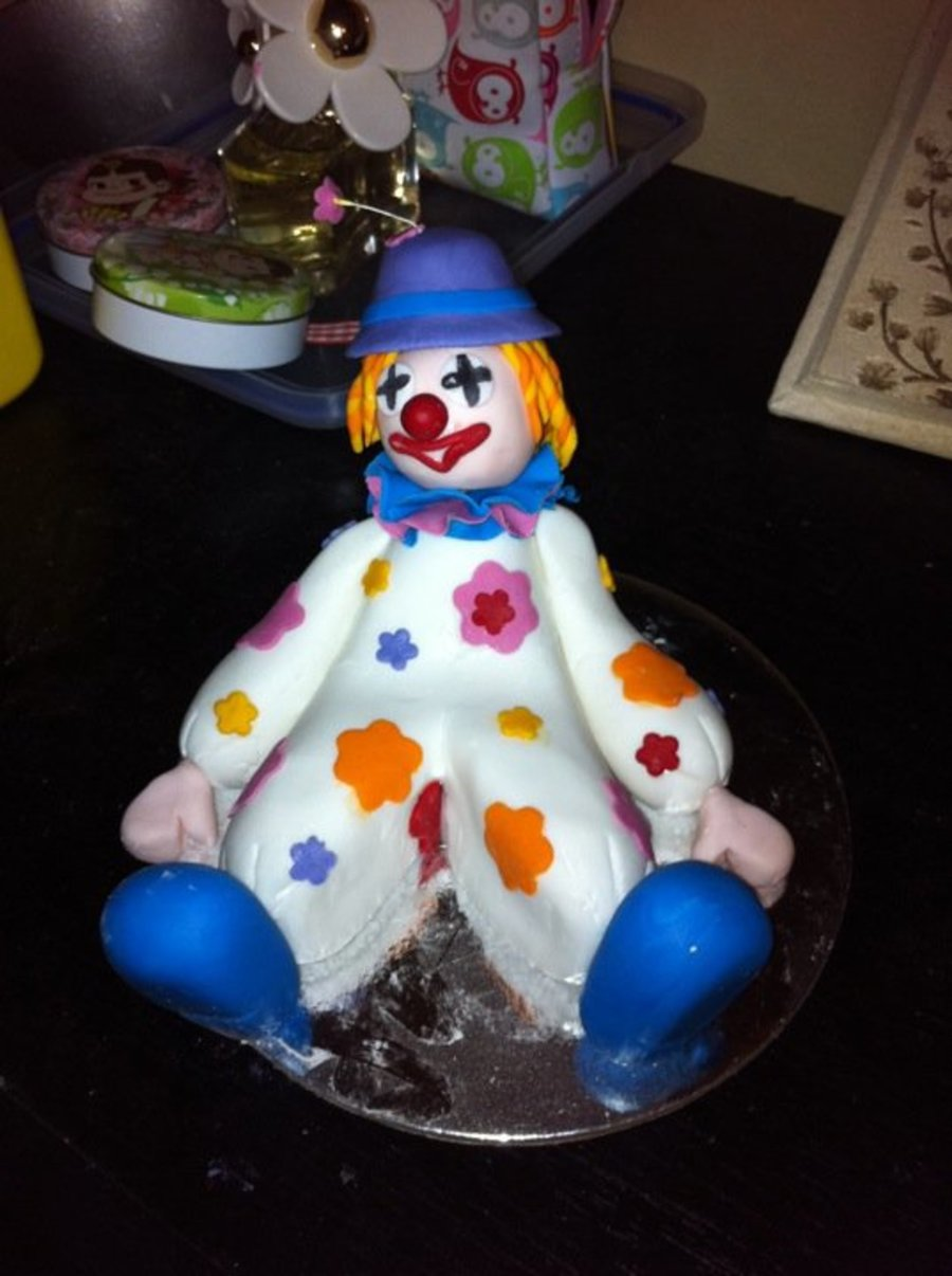 Cheeky Clown Cake Topper on Cake Central