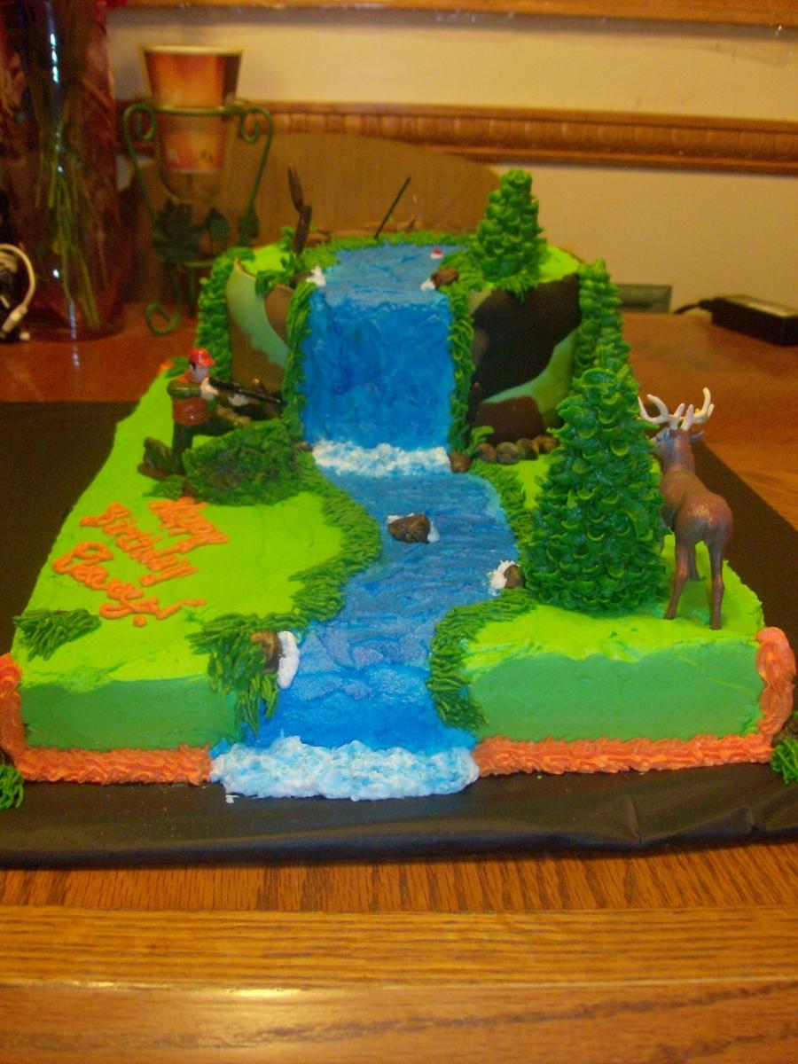 Hunting Fishing Cake Decorating Ideas