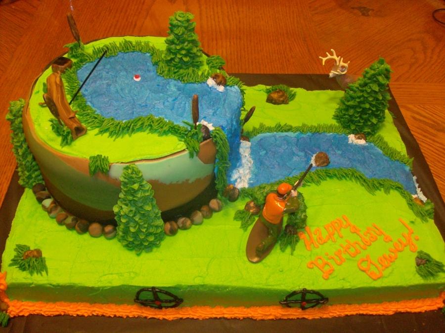 Hunting Birthday Cake Pics