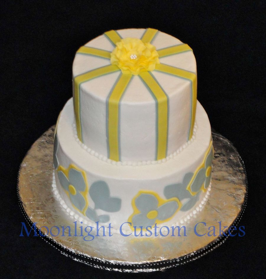 Yellow And Gray Wedding Shower on Cake Central