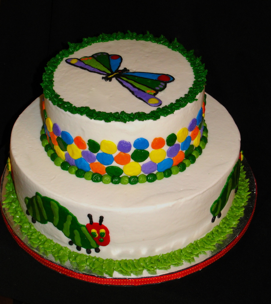 Very Hungry Caterpillar Adoption Shower  on Cake Central