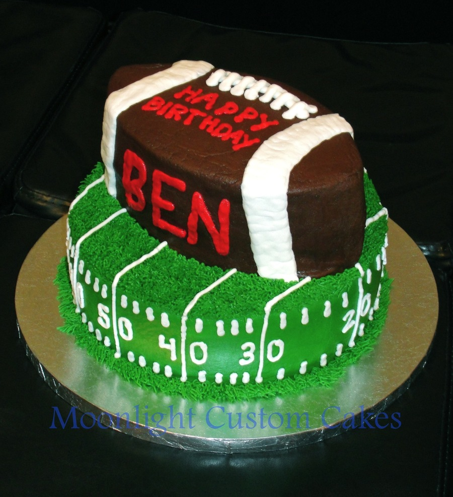 Ben's Football Birthday on Cake Central