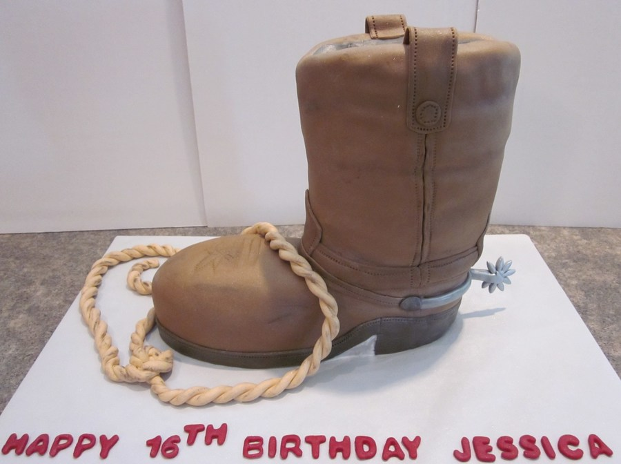 Cowboy Boot And Lasso on Cake Central