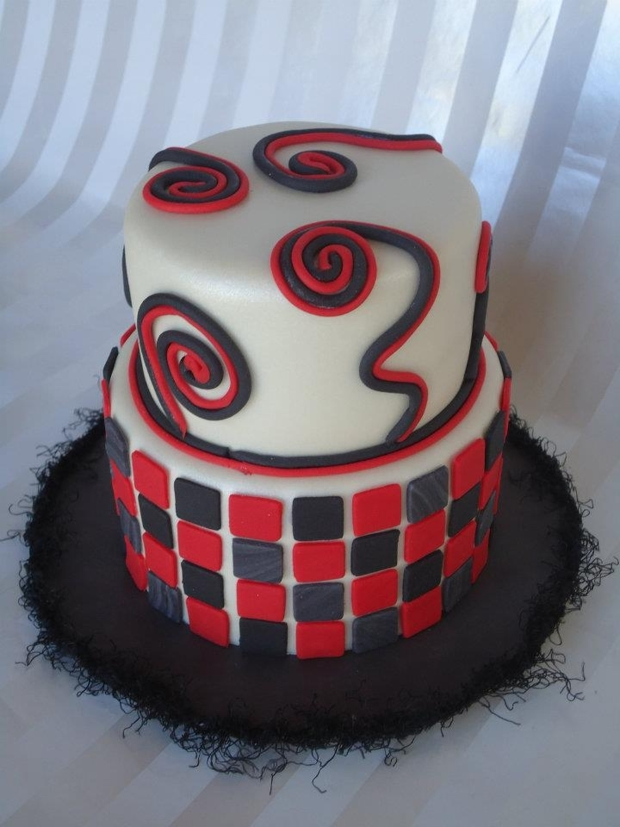 Black And Red  on Cake Central