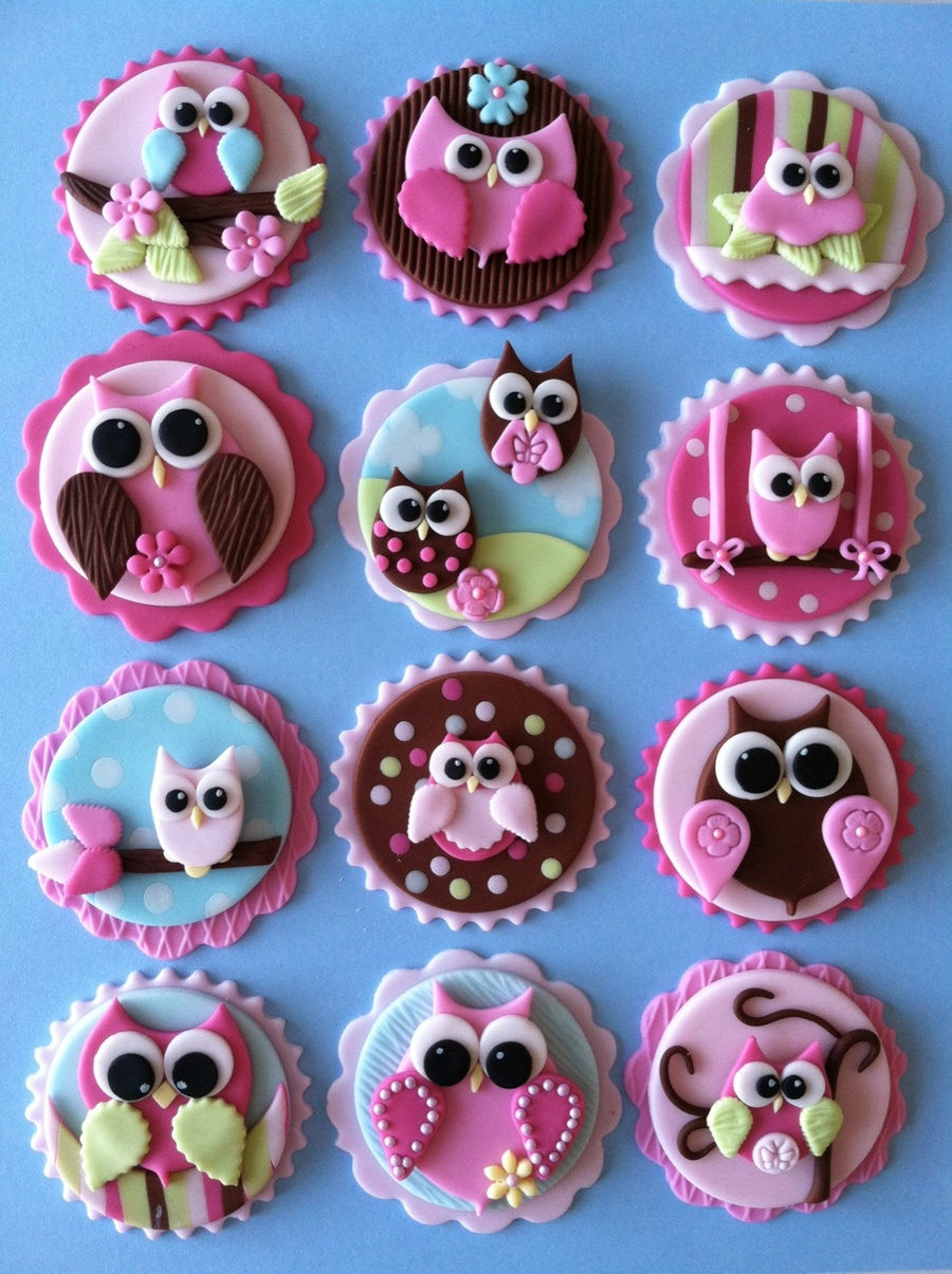 Owl Cupcake Toppers on Cake Central