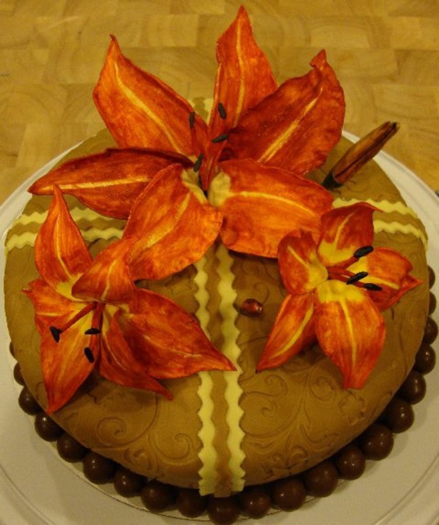 Tiger Lillies on Cake Central