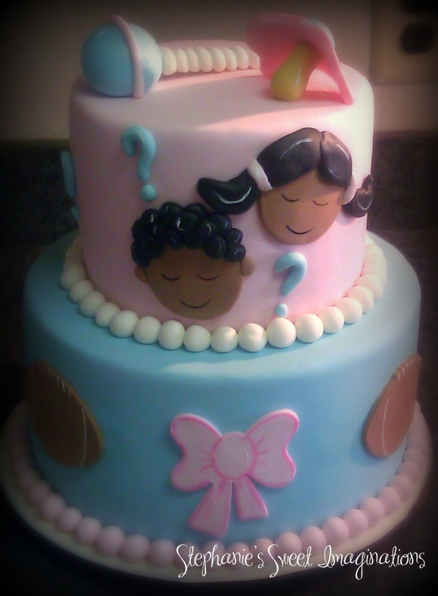 Gender Reveal Cake on Cake Central