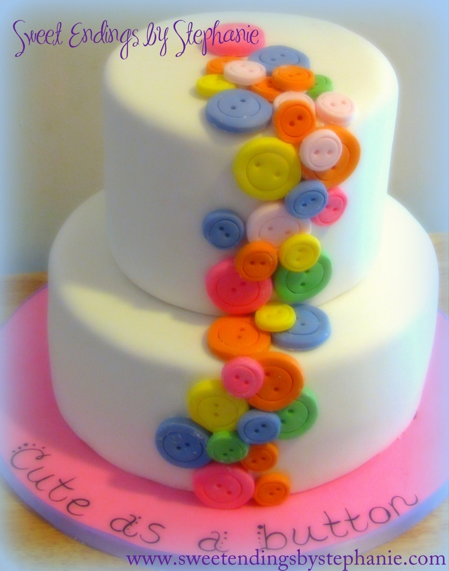 Cute As A Button Birthday Cake on Cake Central