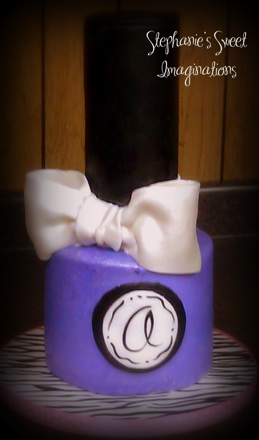 Purple Nail Polish Bottle on Cake Central