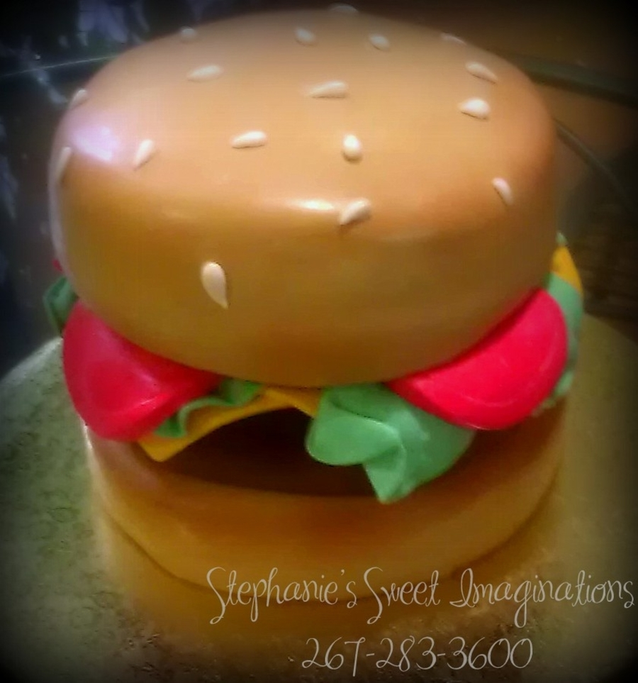Hamburger Birthday Cake on Cake Central
