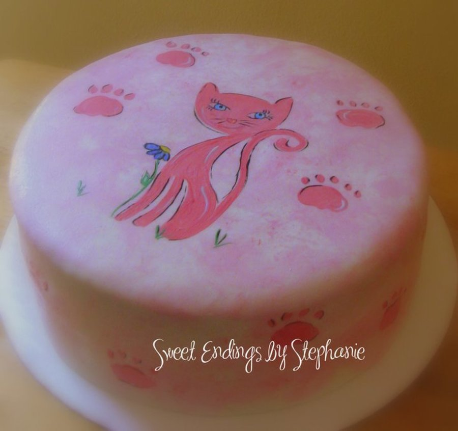Pink Cat Cake on Cake Central