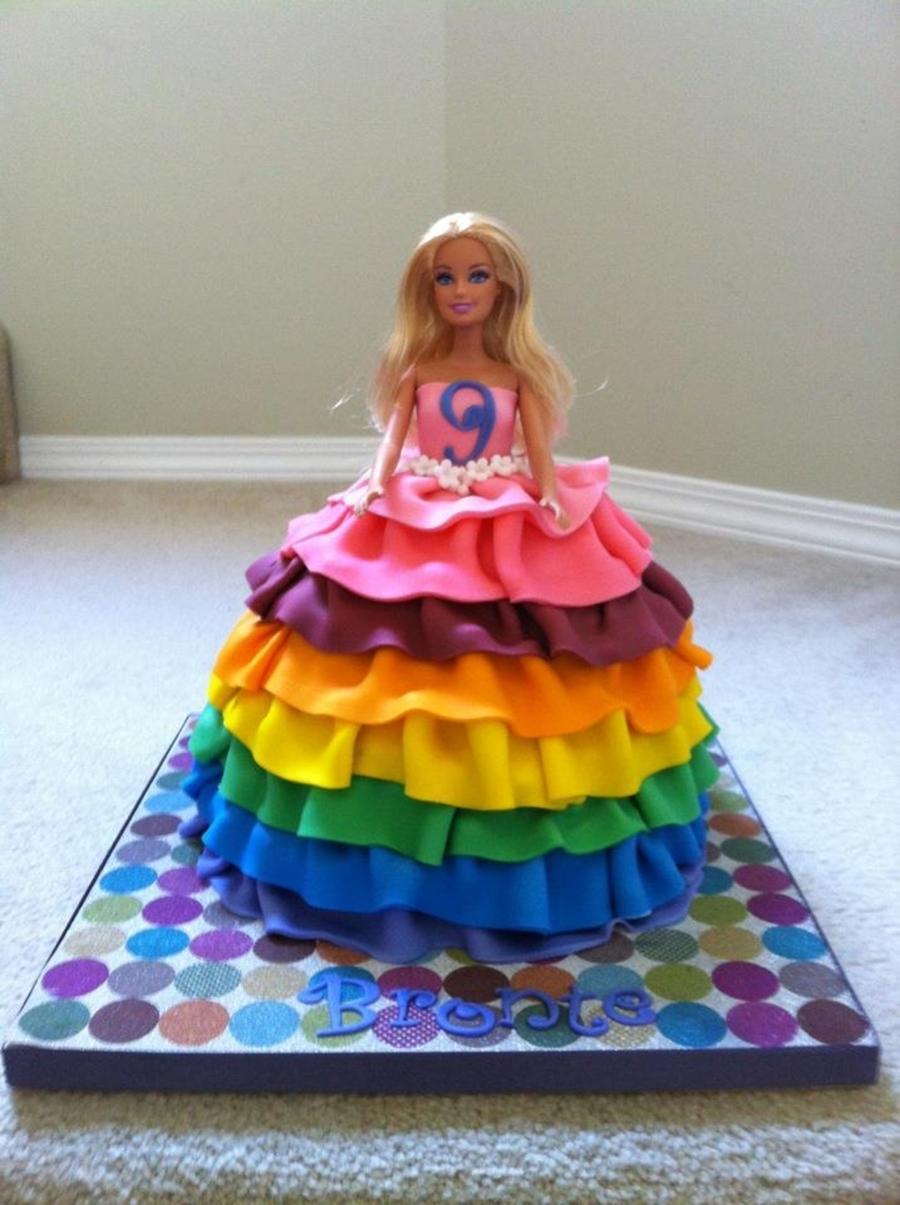 Rainbow Barbie Cake Cakecentral Com