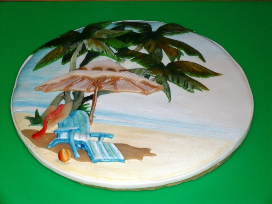 Beach Scene Cookie 1Jpg on Cake Central