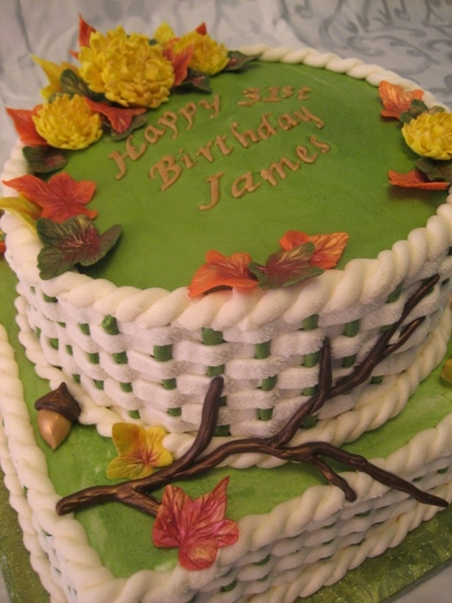 Autumn Theme Birthday Cake Cakecentral