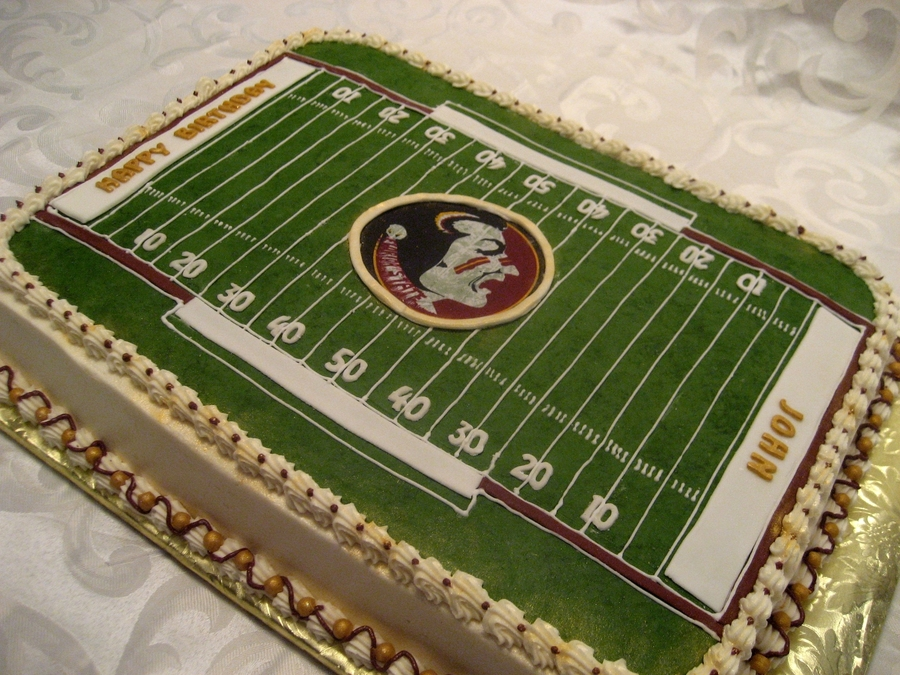 Football Field Birthday on Cake Central