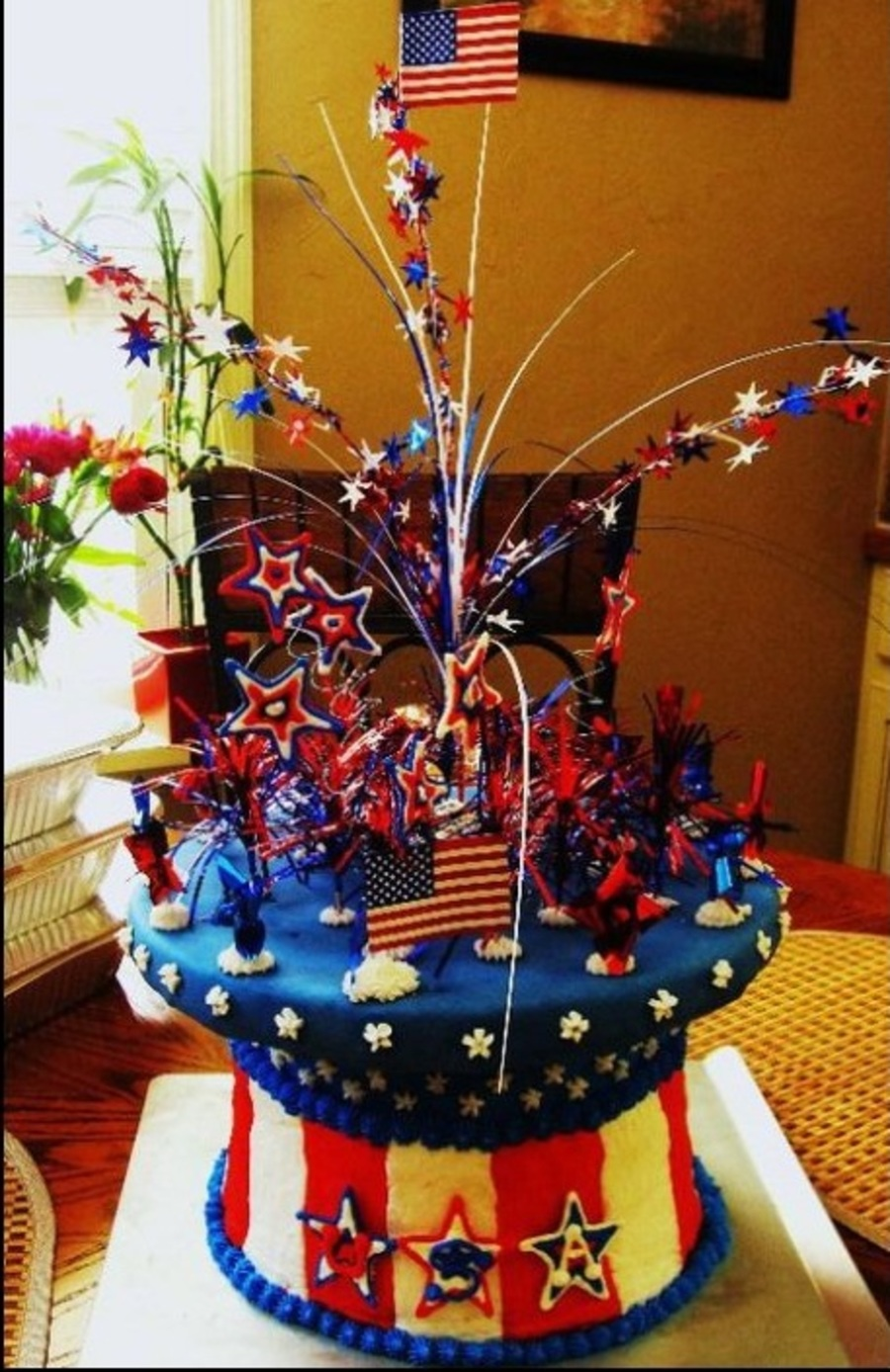 Top Hat Cake For The 4Th on Cake Central