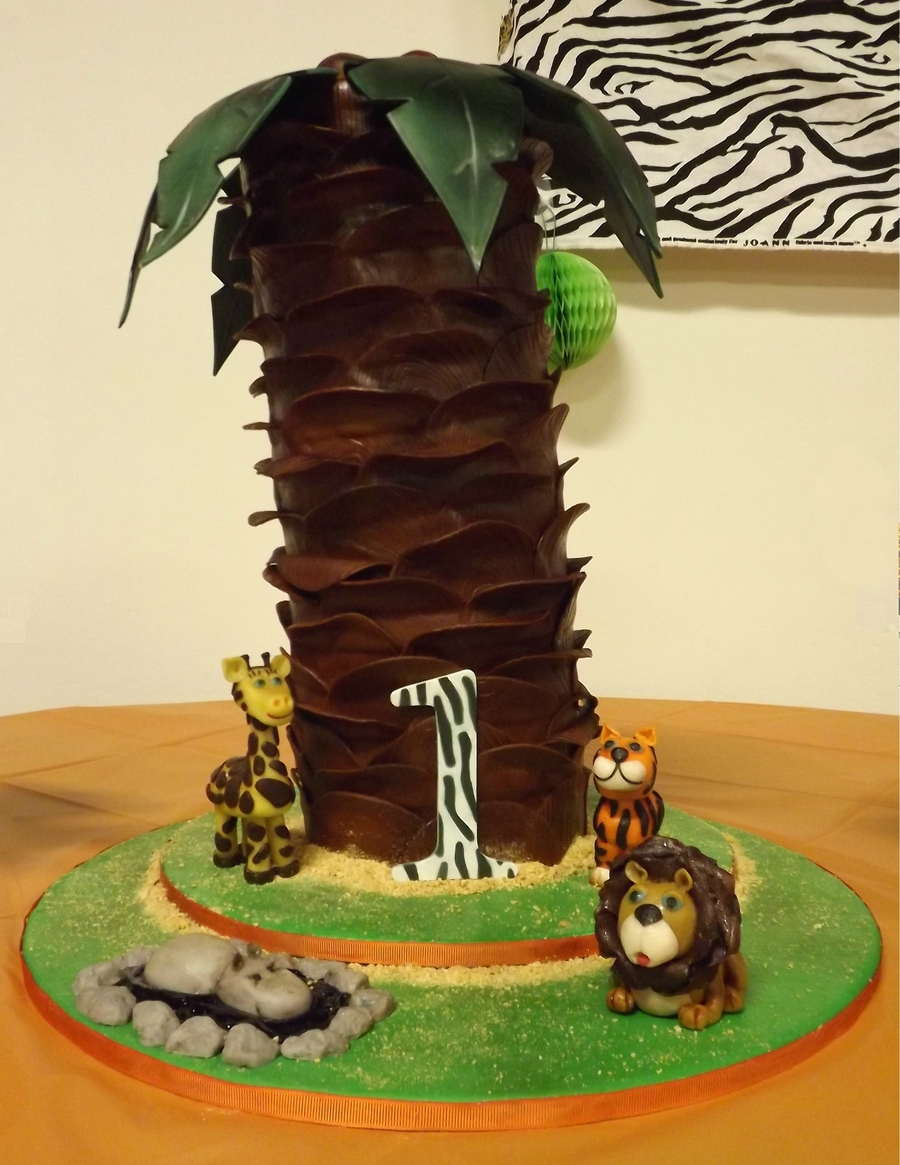First Birthday Palm Tree Cakecentral Com