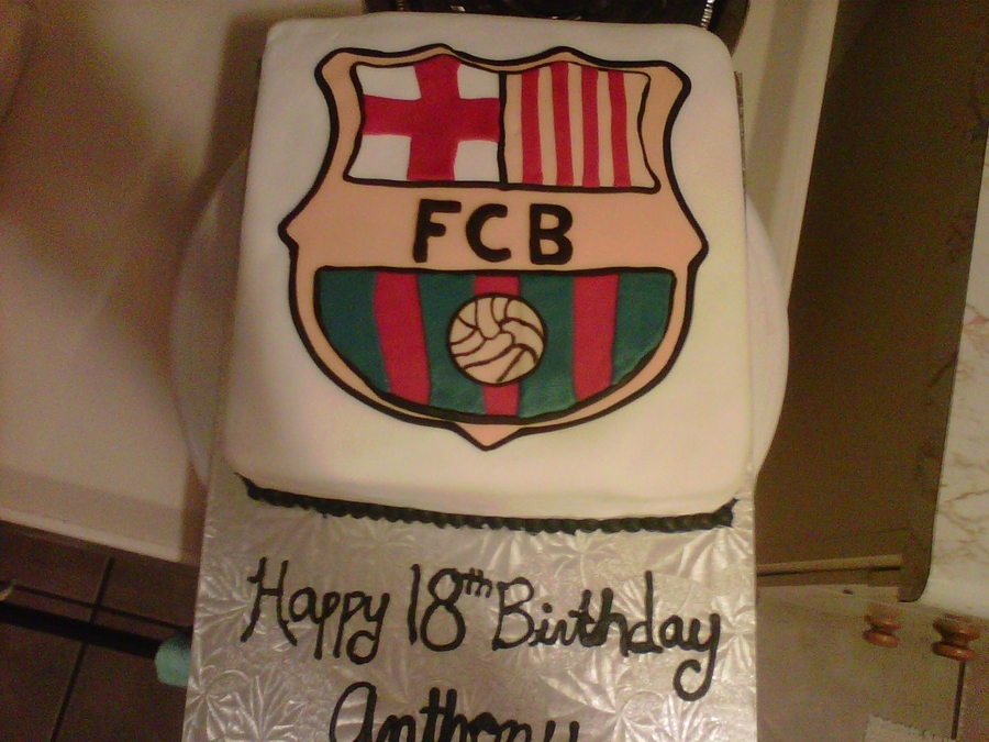 Fc Barcelona Soccer Cake on Cake Central
