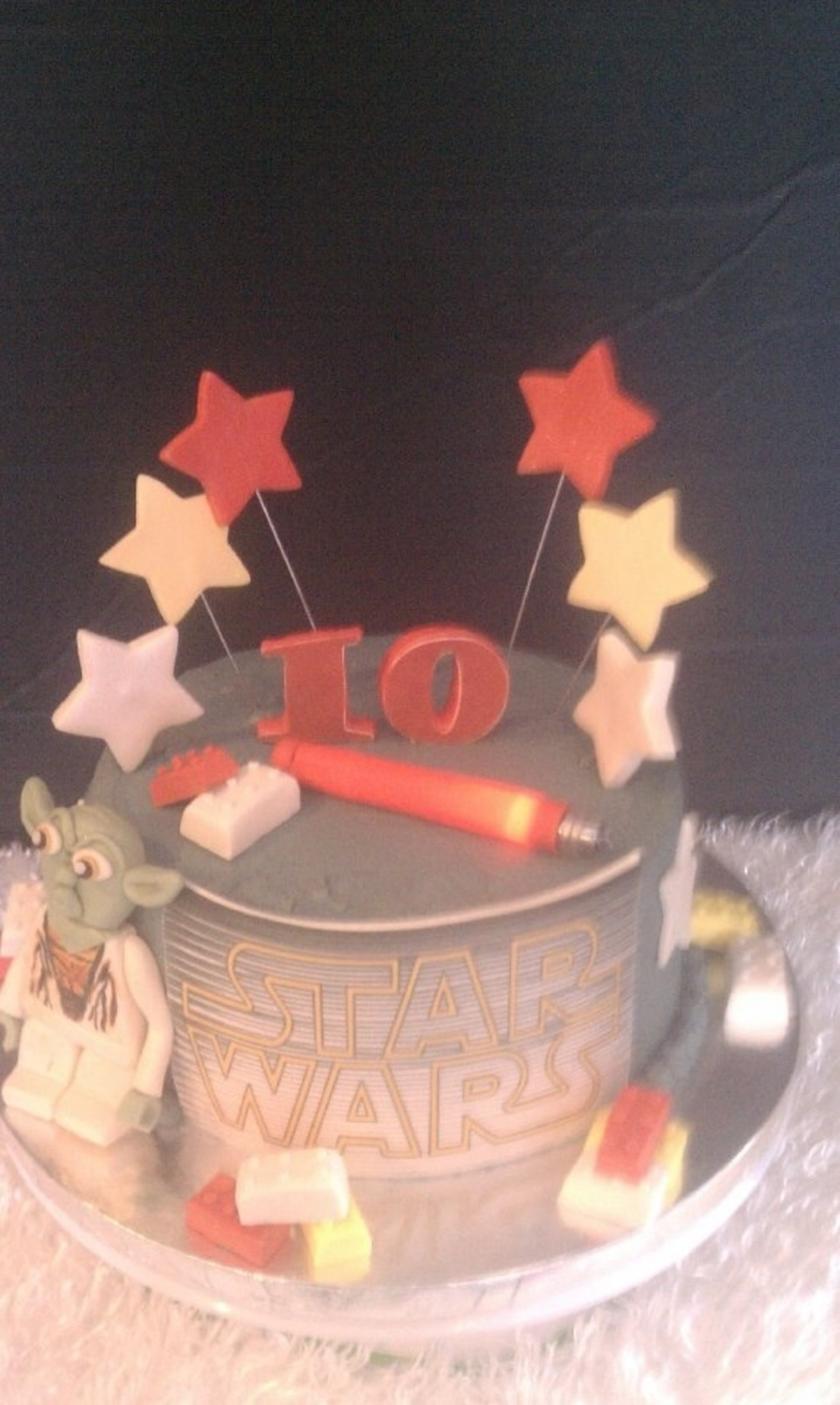 Wondrous Lego Star Wars Cake With Light Up Lightsaber Cakecentral Com Funny Birthday Cards Online Sheoxdamsfinfo