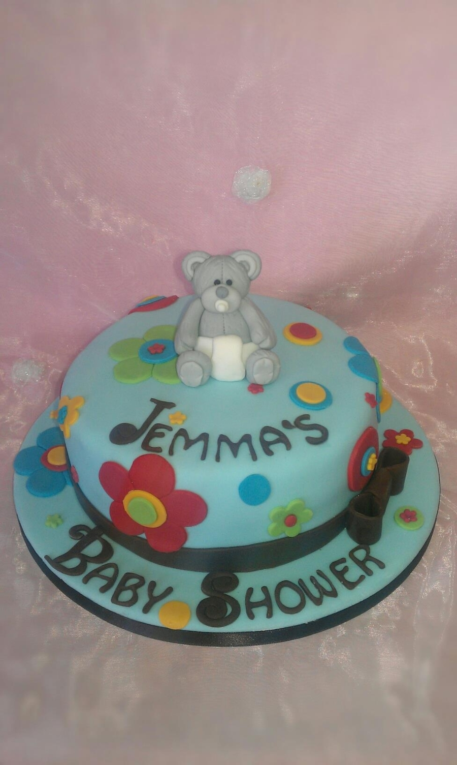 Teddy Flower Baby Shower on Cake Central
