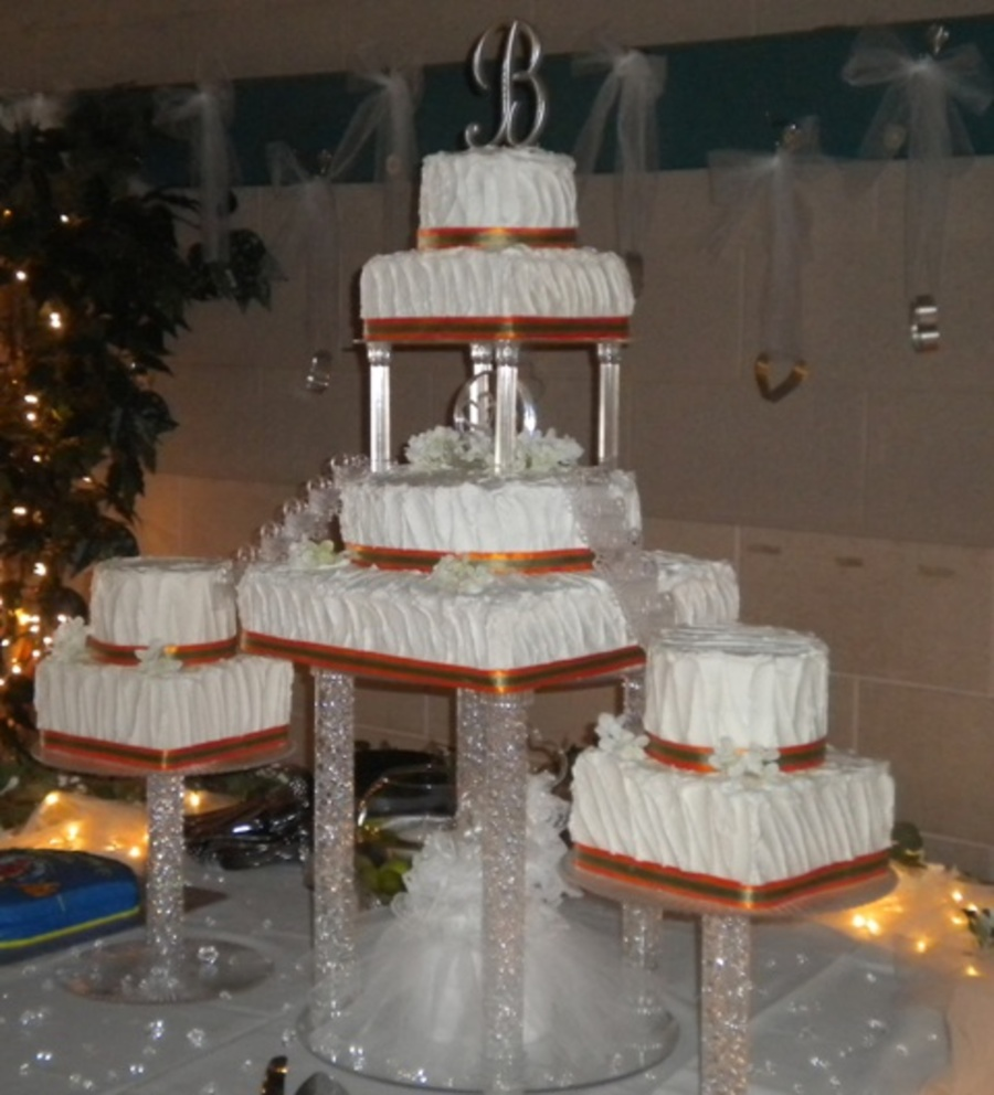 wedding cakes with pillars wedding cake with pillars and cakecentral 26077