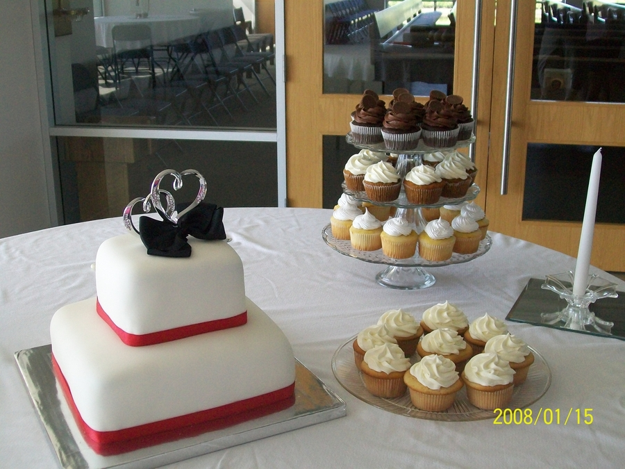 Red And Black Wedding Cake on Cake Central
