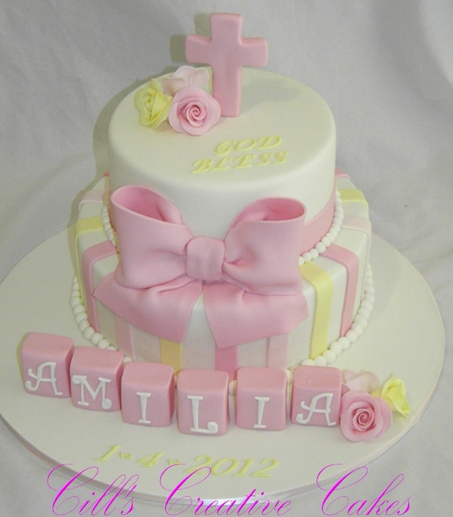 Amilias Christening on Cake Central