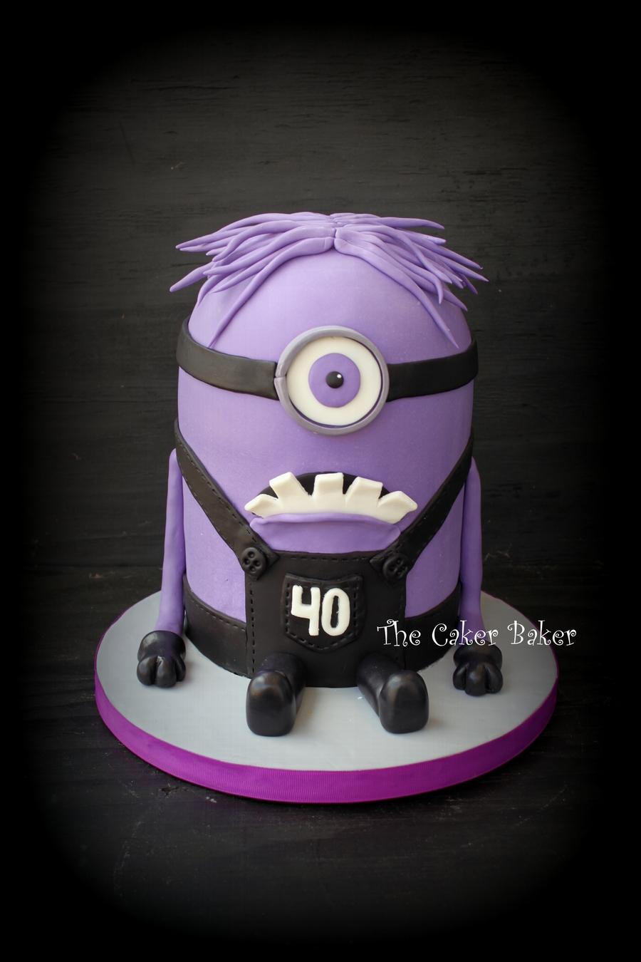 Purple Minion Cake - CakeCentral.com