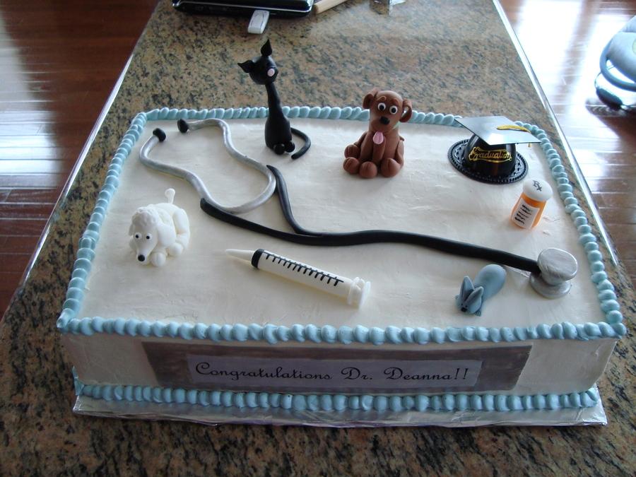 Veterinarian Graduation Cake Cakecentral Com