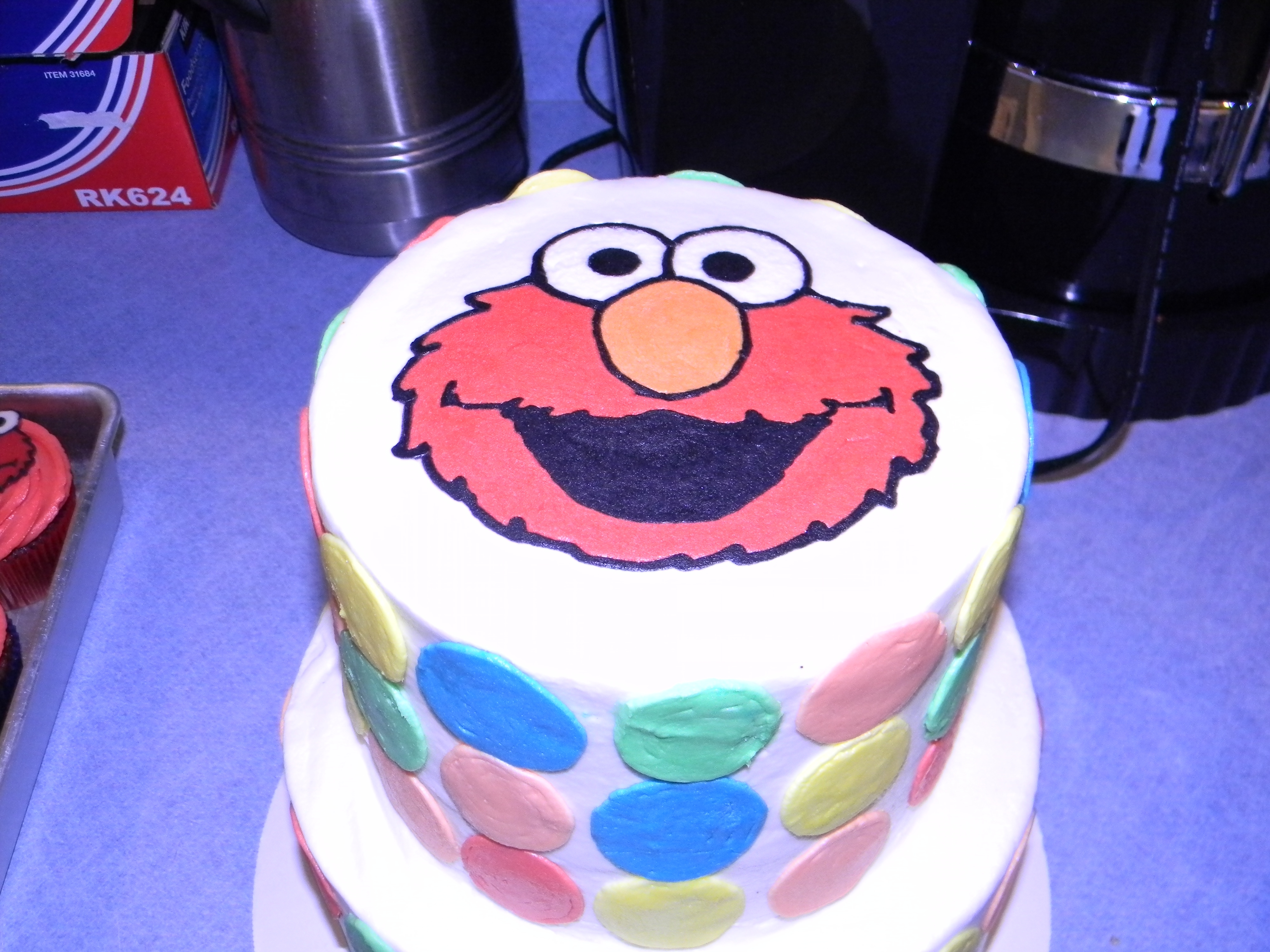 Reilly Street Image Is Edible Paper Elmo On Top Was Done With FBCT Birthday Cakes