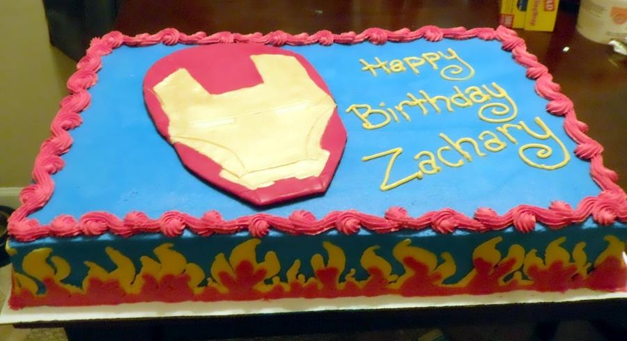 Iron Man Birthday Cake , CakeCentral.com
