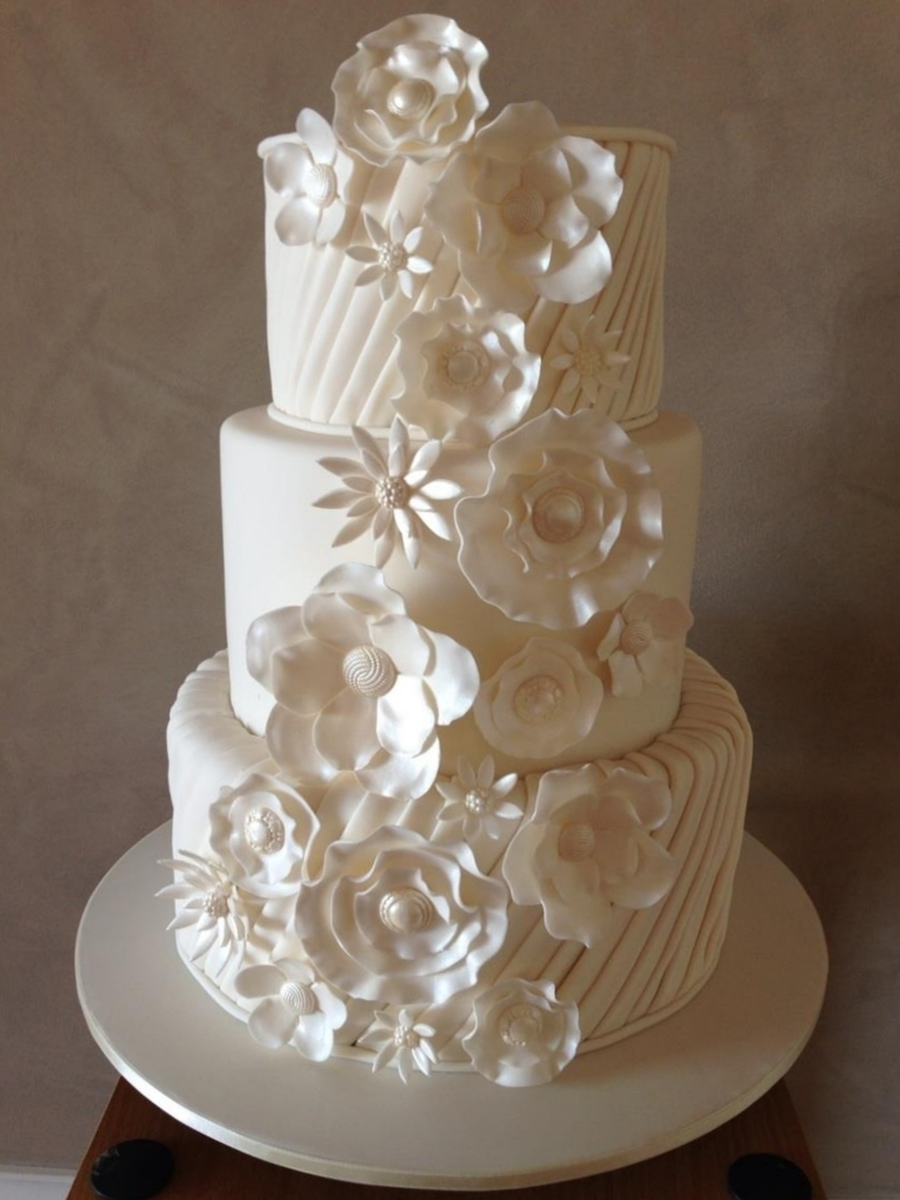 Pleated Fantasy Wedding Cake - CakeCentral.com