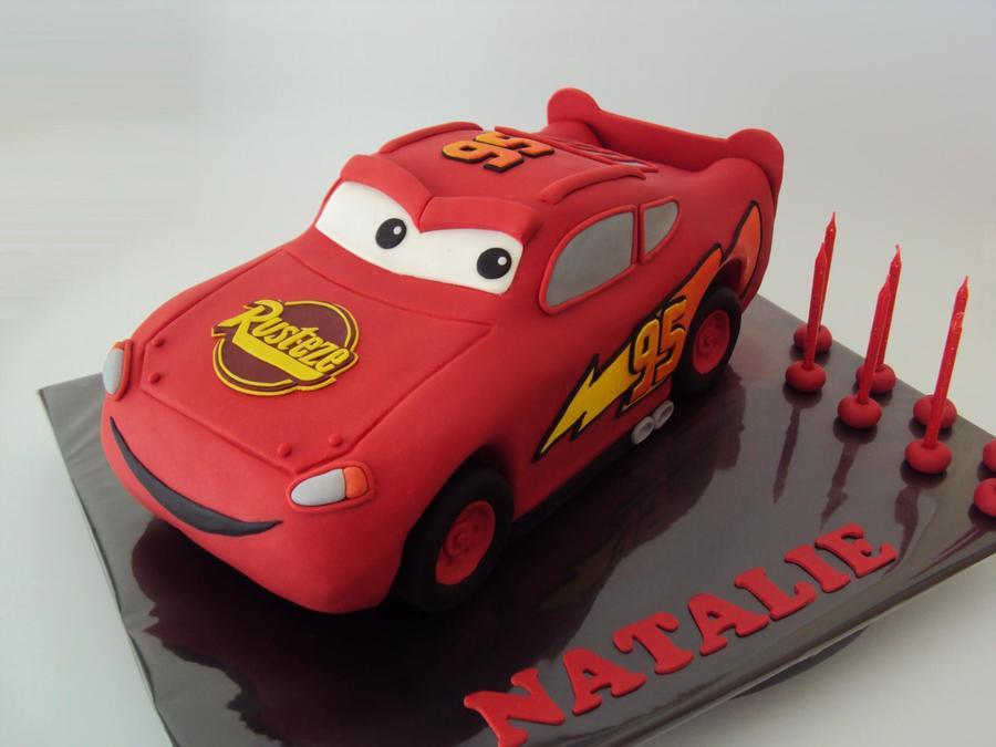 Car Cake Image Free Download : 3D Lightning Mcqueen - CakeCentral.com
