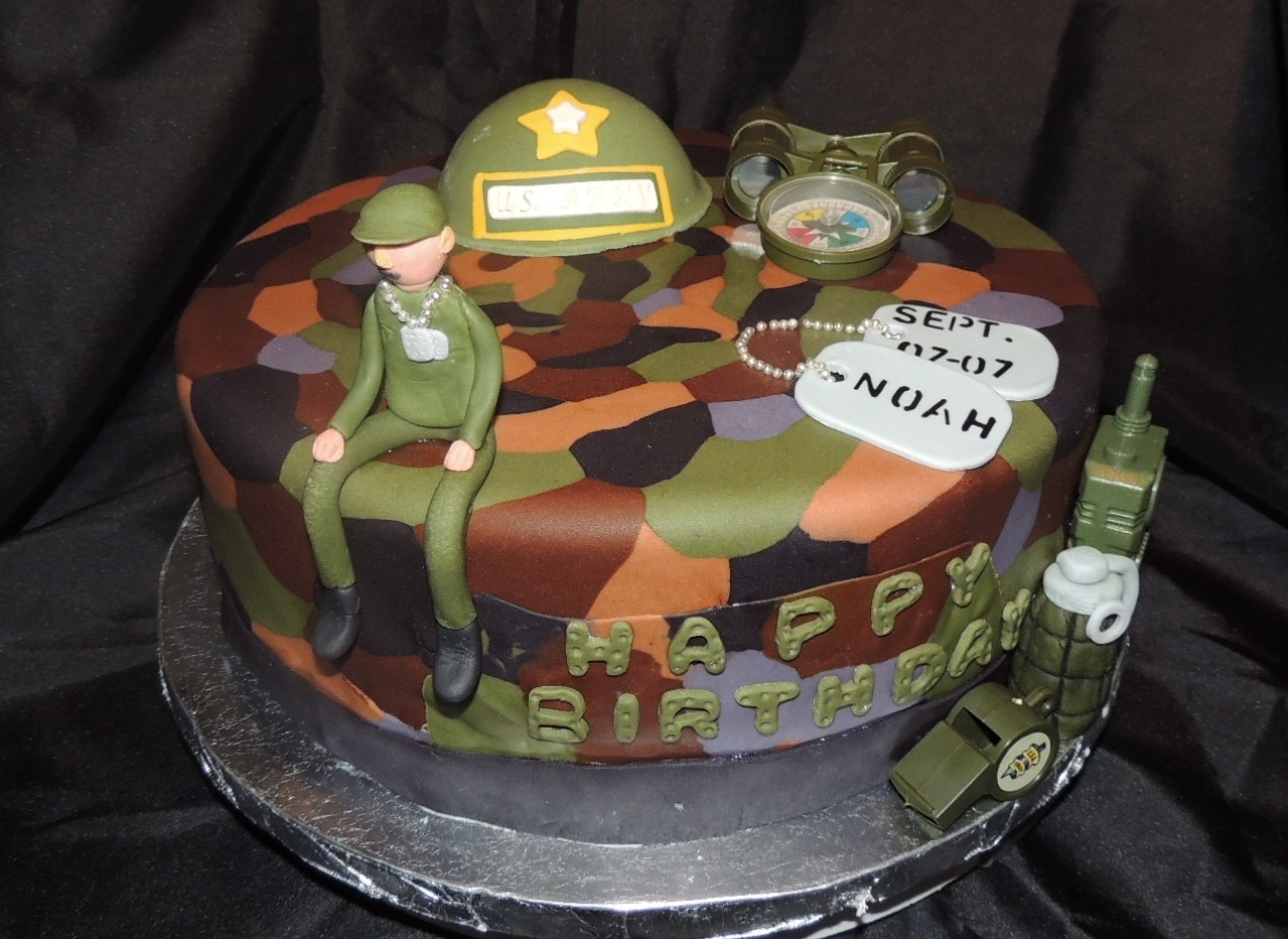 Army Themed Birthday Cake CakeCentralcom
