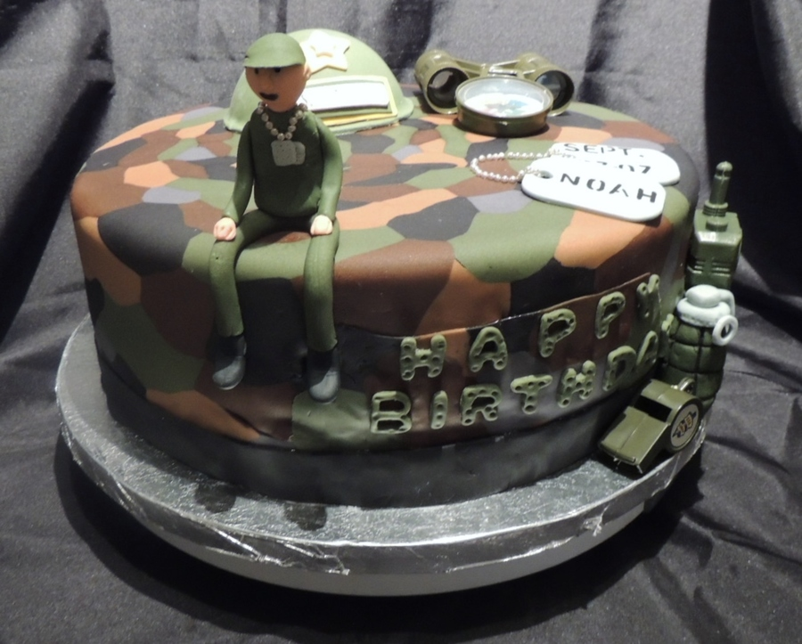 Army Themed Birthday Cake Cakecentral