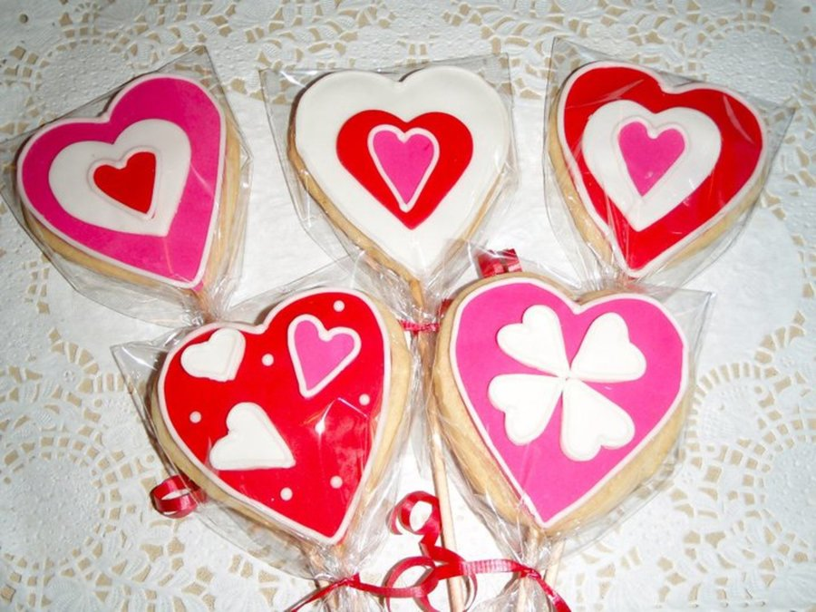 Valentines Cookies on Cake Central