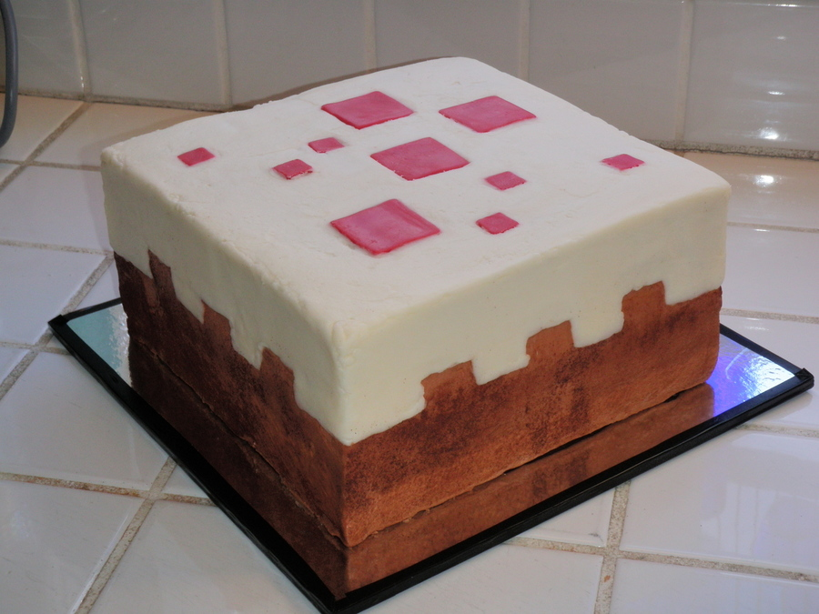 Minecraft Cake Block Cake on Cake Central