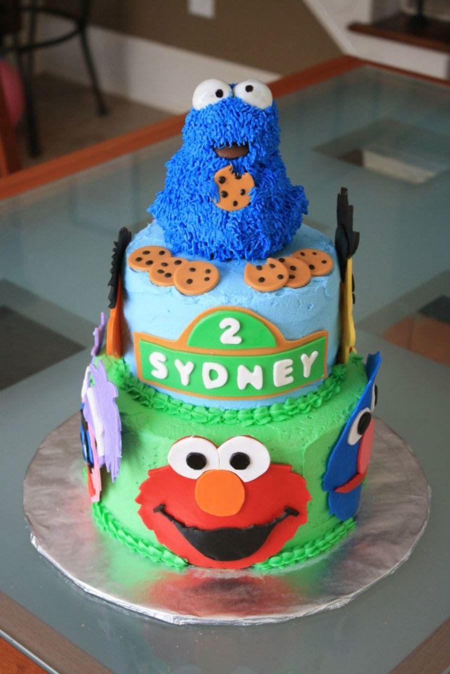 Cake Decorating Sesame Street Birthday : Sesame Street Birthday Cake All Fondant Details ...