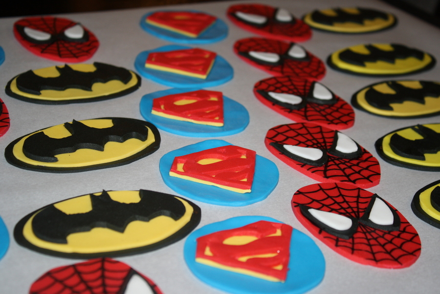Superhero Cupcake Toppers Cakecentral Com